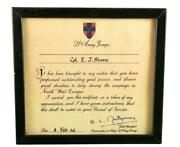 Cpl E.j. Stone 3rd Cdn Army Div. Signed Certificate From Monty Plus More 2264t