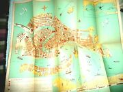 Lovely Vintage Illustrated Map Of Venice Italy C.1950