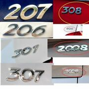 3d Rear Trunk Emblem Car Styling Body Sticker Abs Badge Decoration For Peugeot