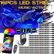 Carspeed 16x Rgb Motorcycle Led Light Bluetooth Control Neon Glow Accent Strip