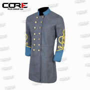 Us Civil War Confederate Major 3 Rows Braid Double Breast Infantry Frock Coat