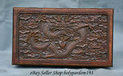 10 Chinese Huanghuali Wood Carved Dragon Beast Play Bead Storage Jewelry Box