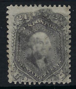 United States Of America1861 24c Pale Grey Lilac Thin Paper Scott 70d Used