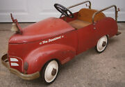 Antique Garton Toy Fire Truck Pedal Car 1930and039s Shipping Availalbe Original Pain