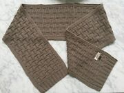 New Hermes Unisex 100 Cashmere Knit Long Scarf Made In Italy 100 Authentic