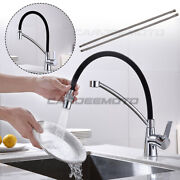Chrome 360anddeg Rotating Pull Down Sprayhead Hot Cold Water Filter Goose Neck Faucet