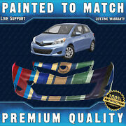 New Painted To Match Front Bumper Cover Fascia For 2012 2013 2014 Toyota Yaris