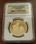 Great Britain 2010 Gold 1 Oz 100 Pounds Ngc Gem Proof London Olympics - Neptune