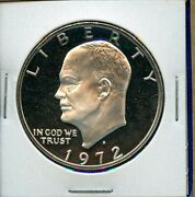 1972 S Eisenhower Dollar Silver Proof Us Mint Coin 1972-s Dcam Bu Ms+++++