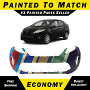 New Painted To Match - Front Bumper Cover For 2011-2013 Ford Fiesta Sedan Hatch
