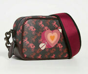 Coach Camera Bag 16 Crossbody Horse And Carriage Print And Heart Nwt 88264