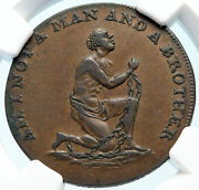 1790's England Great Britain Abolitionist Anti Slavery Conder Token Ngc I83848