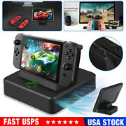 For Nintendo Switch Tv Hdmi Converter Charging Dock Station+cooling Fan Portable