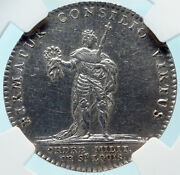 1715 France King Louis Xv St Louis Military Order Silver French Medal Ngc I83744
