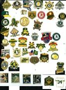 Aand039s Vintage Pin Choice Many Pins Oakland Athletics World Series Spring Training