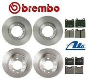 For Porsche 911 1969-1983 Front And Rear Brake Kit Disc Rotors Brembo And Pads Ate