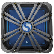 Kicker 11l712glc 12 Charcoal Grille W/ Led For Solobaric 11s12l7 Subwoofer Sub