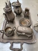 Wallace Baroque Tea Set Trays 281 282 283 284 And Fb Rodgers Silverco 357 6731