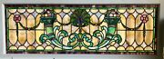 Erie Pa Mansion 64 Wide By 25 Tall Stained Glass Window W/jewels Circa 1892