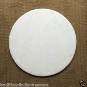 4and039x4and039 White Marble Round Plain Coffee Dining Table Top Home Decor Art Gifts