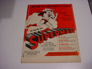 Nice,used 1948 Superman Movie Pressbook Shows Toys,dolls,watch,fo-lee,wallet