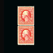 Us Stamp Mint Og And H Xf S349 Line Pair Beauty 21.5 Mm Wide