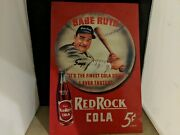 Babe Ruth Red Rock Cola Metal Sign Tin Vintage Style Usa 149