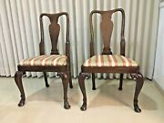 One Antique Mahogany Queen Anne Dining Chair