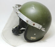 Vintage 1961 Protective Helmet A.r.t. With Shield Cn/8415-99-130-2827 53cm