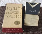 Philco T-60 All-transistor Portable Radio In Original Box Please Read