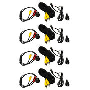 Boss Cam21 High Resolution Weatherproof Backup Color Camera Wire Kit 4 Pack