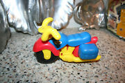 """Vintage Timmee Toy Motorcycle By Processed Plastic Co 7"""" Tim Mee Toys"""
