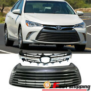 Fit Toyota Camry 2015 2016 2017 Le Xle Front Bumper Upper Grille Lower Grill Set
