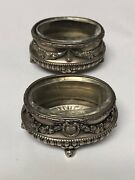 A Pair Of Russian Faberge Salt Cellar With Glass Lining
