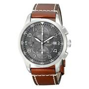 Victorinox Swiss Army Menand039s Watch Airboss Dark Grey Dial Brown Strap 241597