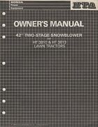 1986 Honda 42 Two-stage Snowblower For Ht3810ht3813 Lawn Tractor Owners 129