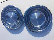 1962 Lincoln Continental Set Of 2 14 Hubcaps Wheel Cover Good Used