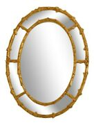 45210ec Friedman Brothers 6520 Etched Glass Oval Mirror New