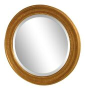 39438 Friedman Brothers 6802 Round Convex Glass Gold Frame Large Mirror New
