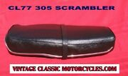 Honda Scrambler Cl72 250 Cl77 305 Seat Restored W/ New Chrome Trim Strip