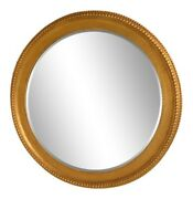 L39221 Friedman Brothers 6969 Large Round Beveled Glass Gold Mirror New