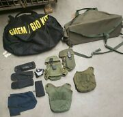 Military Surplus Bag And Pouch Lot Used Gear And Equipment Sl0023