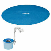 Intex 18 Foot Solar Vinyl Pool Cover And Wall Mounted Automatic Surface Skimmer