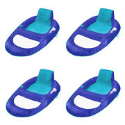 Swimways Spring Float Recliner Xl Floating Swimming Pool Lounge Chair 4 Pack