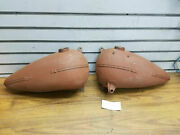 1937-1939 Harley Early U Ul Big Flathead Gas Tanks Oem Stock Vintage Factory
