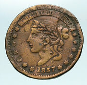 1837 United States Us Hard Times Political Token W Liberty Not One Cent I84136