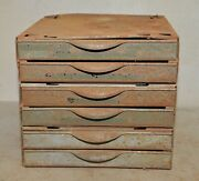 Equipto 6 Drawer Small Parts Cabinet Industrial Metal Jewelers Watchmakers Tool