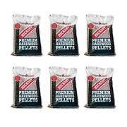 Camp Chef Smoker Grill Premium Hickory Bbq Hardwood Pellets 20 Lbs 6 Pack