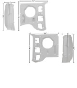 Ford Mustang Inner Pillar Kick Panel With Post Set Left And Right 1969-1970