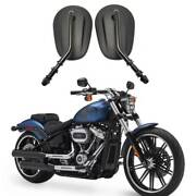 For Harley Davidson Breakout Fxsb Fxsbse Black Motorcycle Rear View Side Mirrors